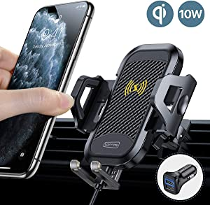 2020 TORRAS Wireless Car Charger Mount with QC3.0 Car Adapter 10W Qi Super Fast Charging Air Vent Phone Holder for iPhone 11/11 Pro/11Pro Max/8 Plus/8/XR/XS/XS Max Samsung Galaxy S10/S9/S8/Note 10/10+