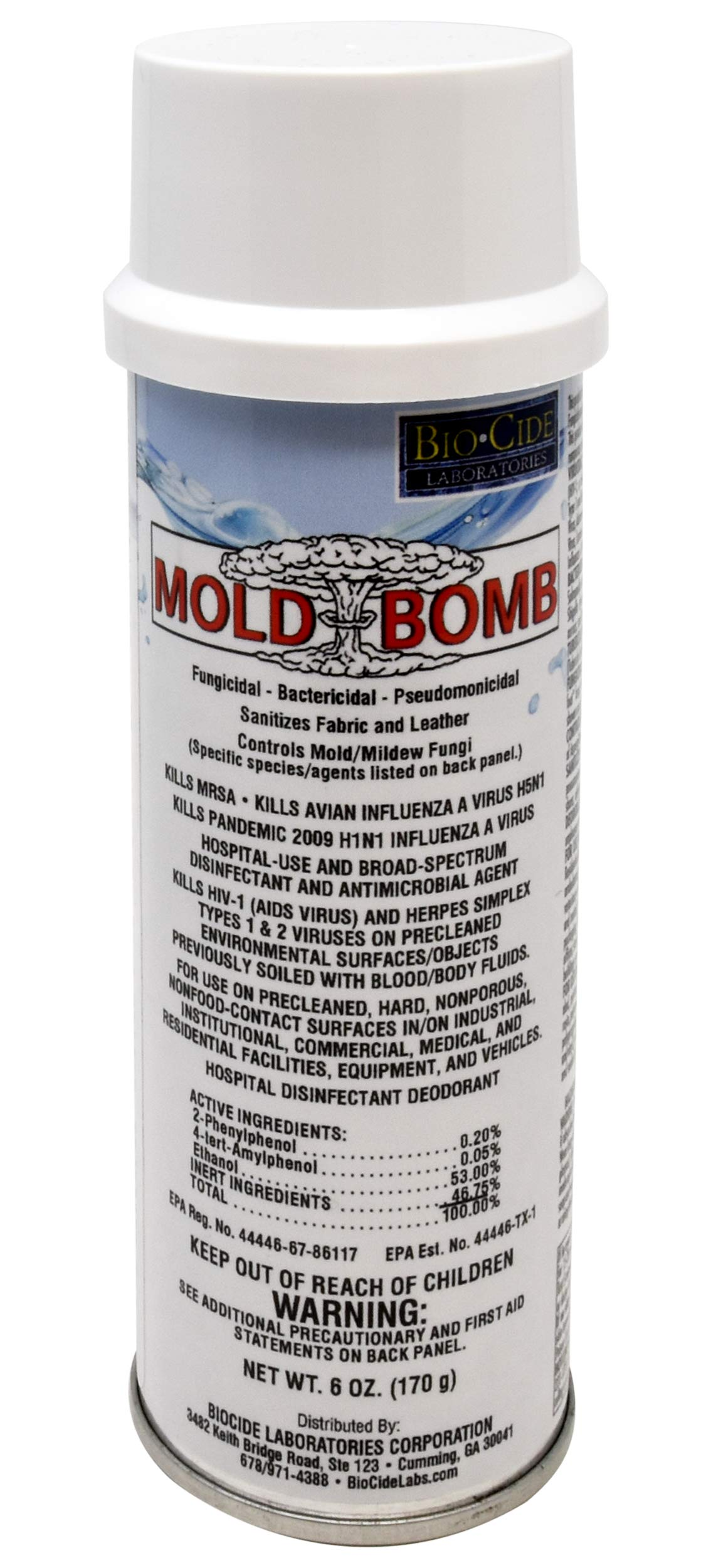 BioCide Mold Bomb Fogger - Mold Killer & Remover - Kill, Clean and Prevent Mold, Mildew, Germs, Viruses, Fungi and Bacterias, DIY Mold Remediation by Biocide Laboratories