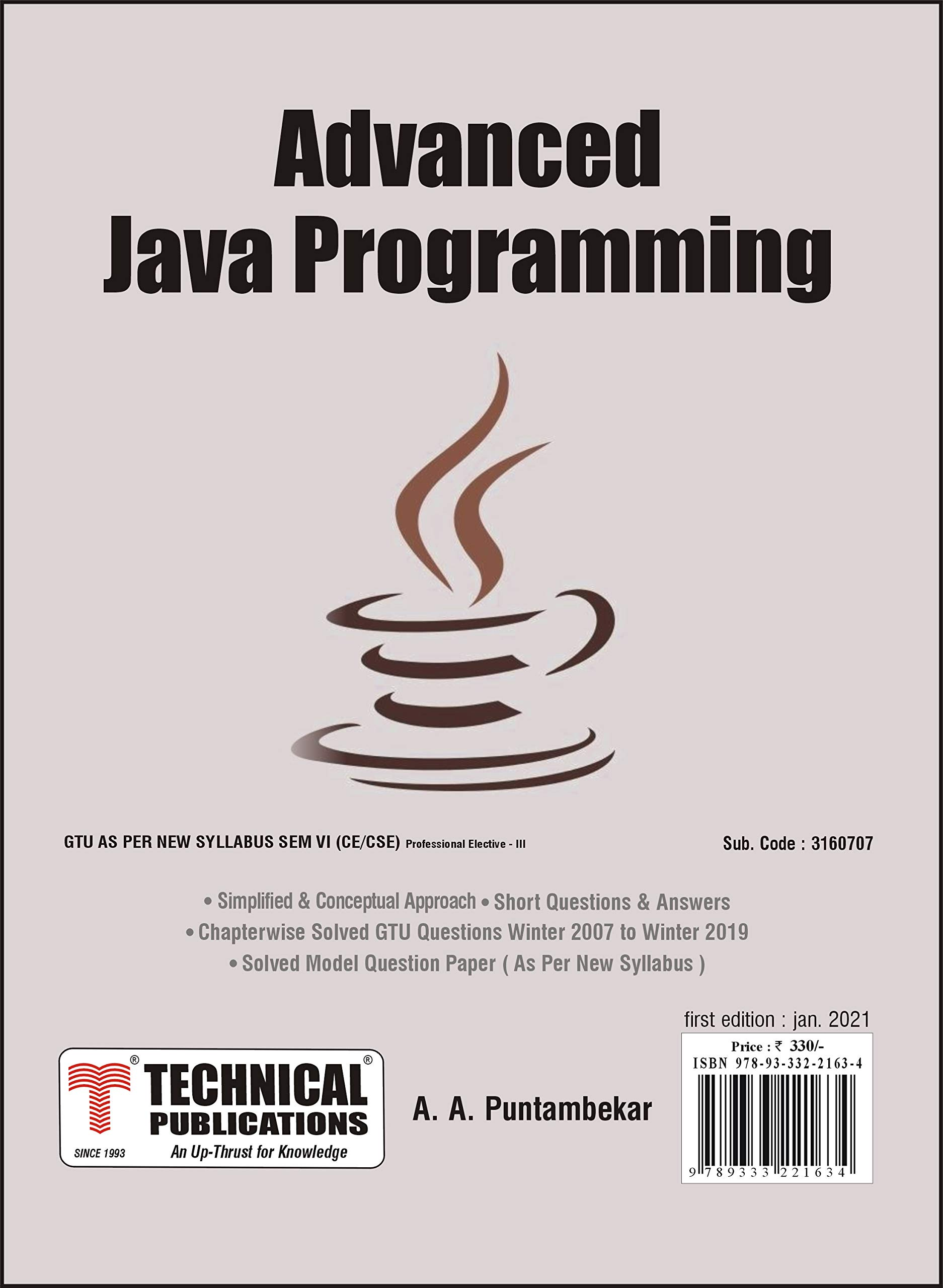 Advanced Java Programming for GTU 18 Course (VI- CSE/Prof. Elec.-III – 3160707)