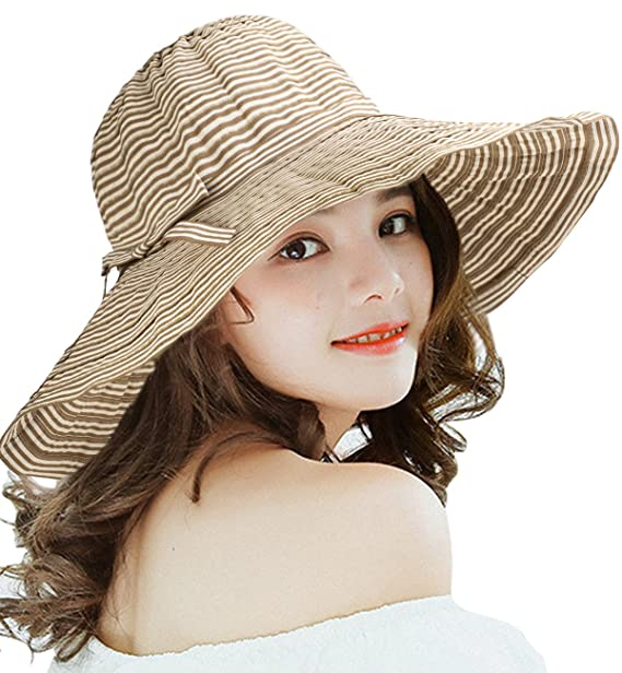 Superora Cappello da Sole Donna Estivo in Cotone Tesa Larga Cappello  Parasole Pieghevole Anti UV Protezione Solare Spiaggia Estate  Amazon.it   Abbigliamento 375310a5814c
