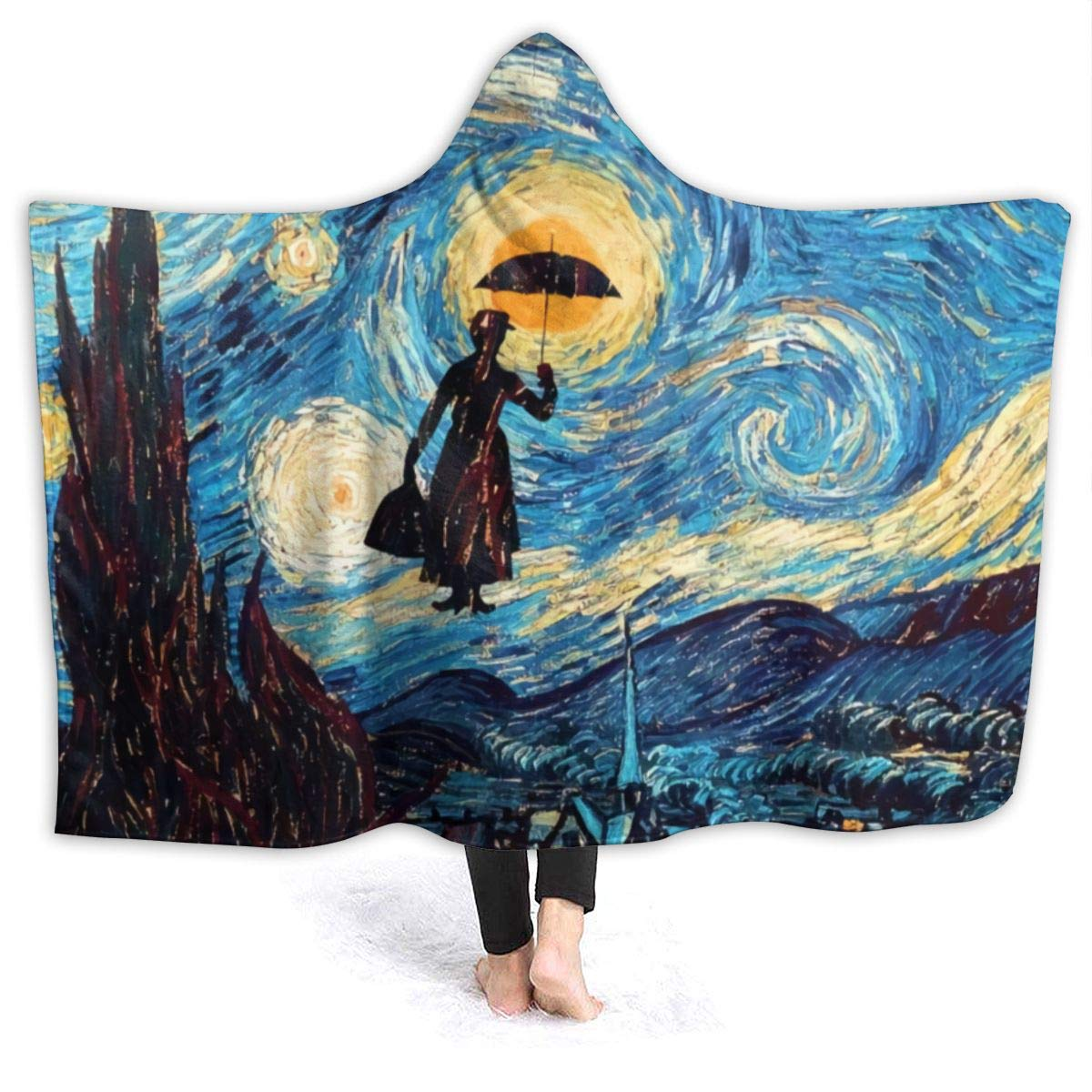 Zul Flannel Fleece Ombre Throw Blanket for Couch Super Soft Cozy Microfiber Couch Blanket All Season, Mary Poppins 60x50 Inch