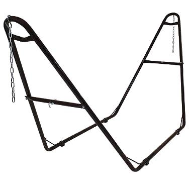 Sunnydaze 550-Pound Capacity Universal Multi-Use Heavy-Duty Steel Hammock Stand, 2 Person, Fits Hammocks 9 to 14 Feet Long, Bronze