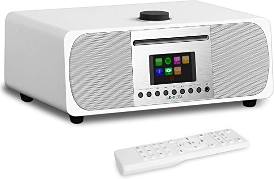 dernière mode nouvelle qualité où acheter LEMEGA M5+ All-in-One HiFi Music System with CD Player, Internet Radio, FM  Radio, Spotify, Bluetooth, WiFi, 2.1 Channel Stereo Speaker, Headphone-Out,  ...