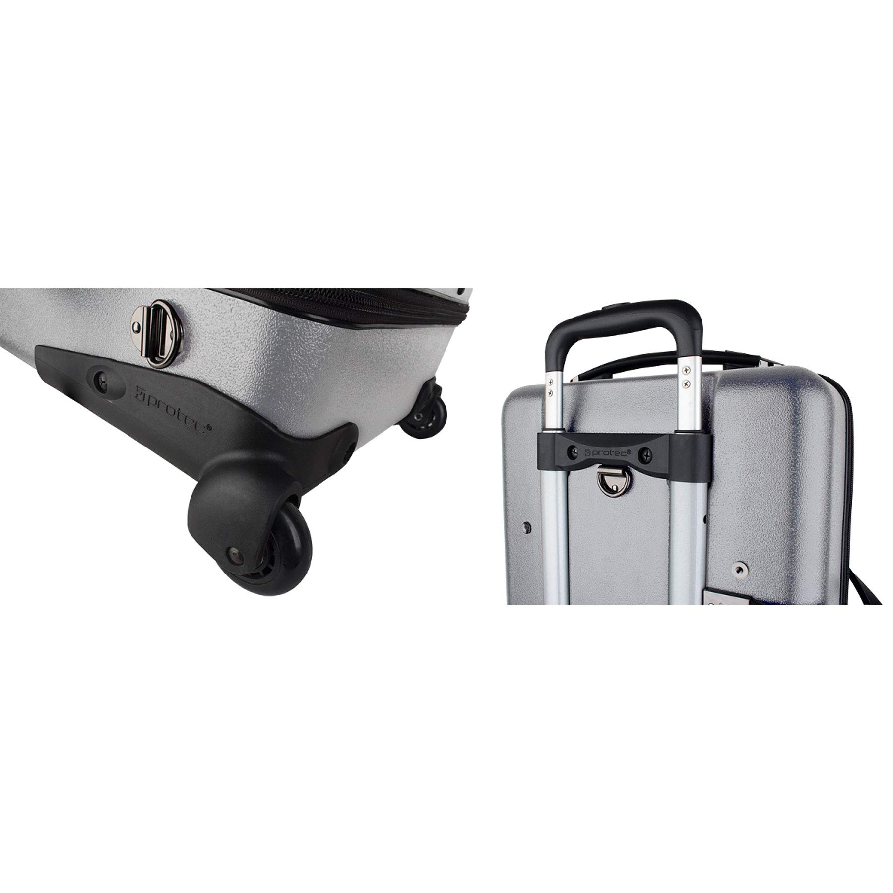 Protec Triple Trumpet Case with Wheels, Silver (BLT301TSX) by ProTec (Image #5)