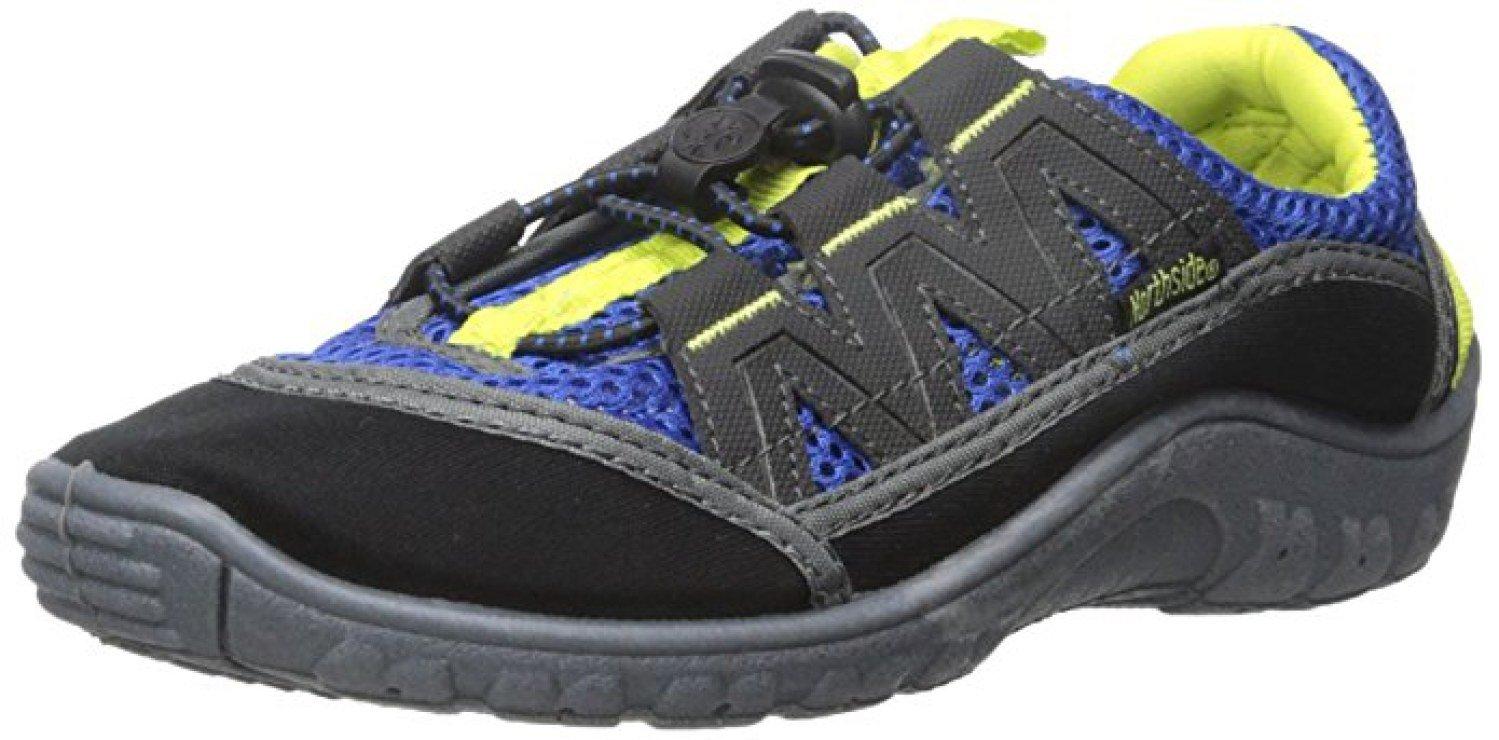 Northside Kid's Brille II Summer Water Shoe, Blue/Volt, 4 M US Big Kid; with a Waterproof Wet Dry Bag