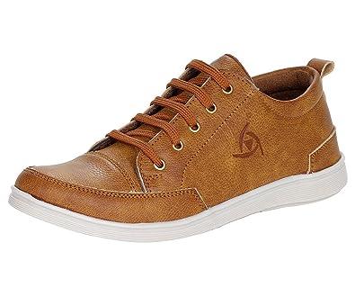 Kraasa Mens Faux Leather Sneaker