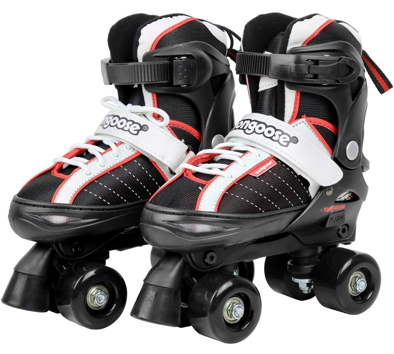 Mongoose Roller Skates for Boys and Girls Quad Adjustable Roller Skates Size 1 4