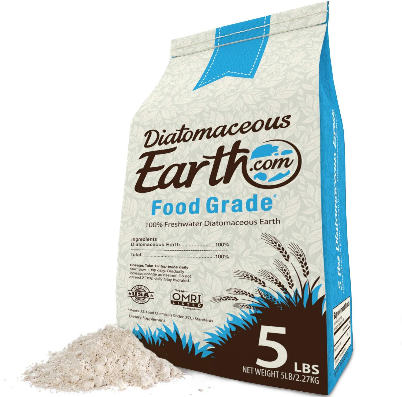 Diatomaceous Earth 5 Lbs Food Grade DE - Includes Free Scoop
