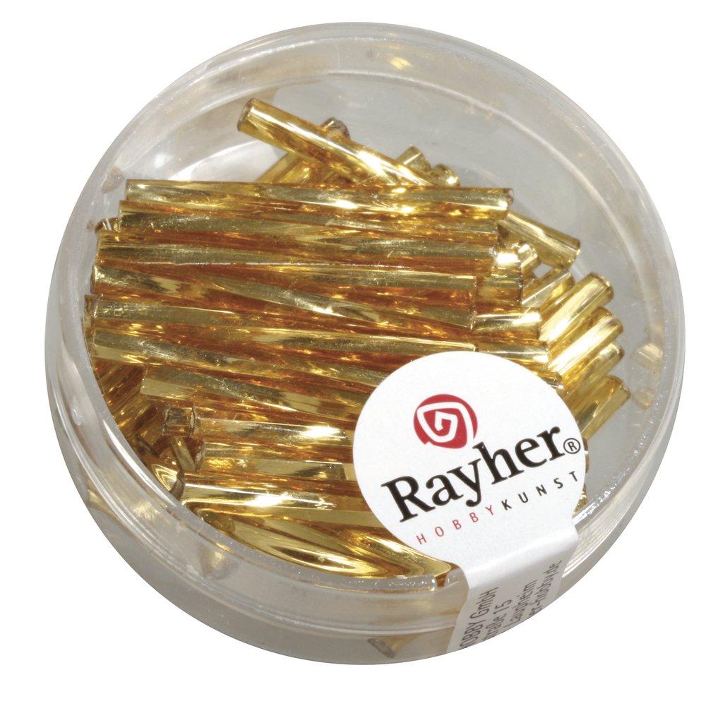 Dose 13g, Rayher 1404922 Glasstifte twistet mit Silbereinzug 20 mm