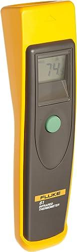 Fluke 61 Handheld Infrared Thermometer, 9V Alkaline battery, 0 to 525 Degree F Range