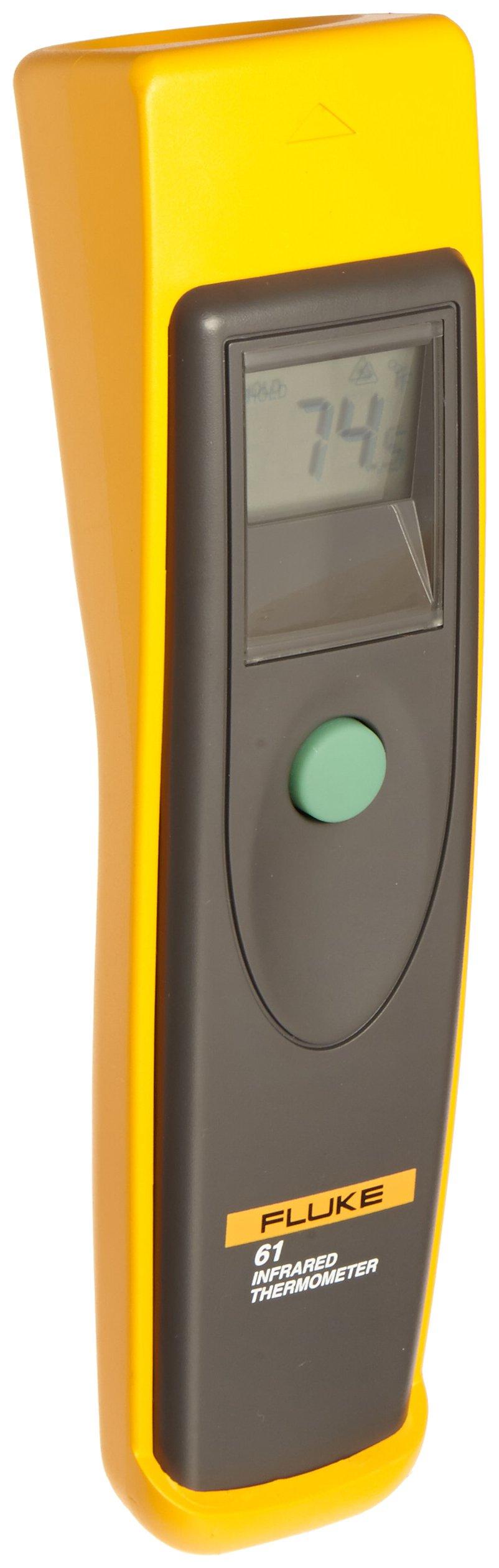 Fluke 61 Handheld Infrared Thermometer, 9V Alkaline battery, 0 to 525 Degree F Range by Fluke