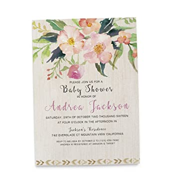 Amazon rustic baby shower invitations with envelopes for boys quotrusticquot baby shower invitations with envelopes for boys and girls custom filmwisefo