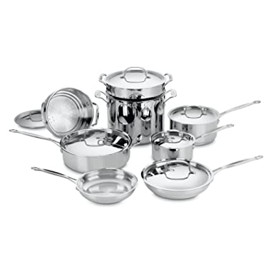 Cuisinart 77-14 Chef's Classic Stainless 14-Piece Cookware Set