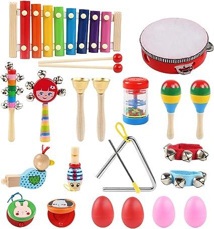 LinStyle Strumenti Musicali per Bambini, 24Pcs Strumenti Musicali