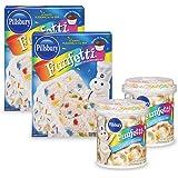 Pillsbury Moist Premium Cake Mix and Funfetti Vanilla Flavored Frosting (Pack of 4)