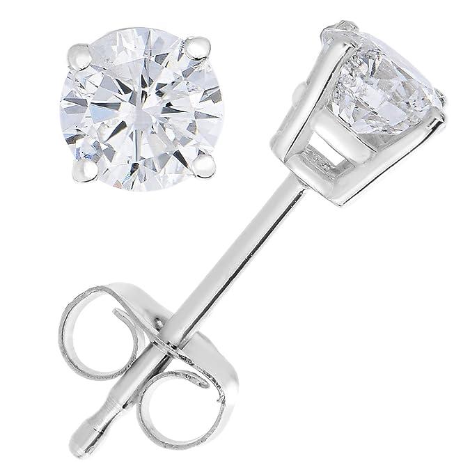 金盒特价 VIR JEWELS 0.25克拉 14K白金钻石耳钉礼盒装 6.9折$89.97 海淘转运到手约¥624