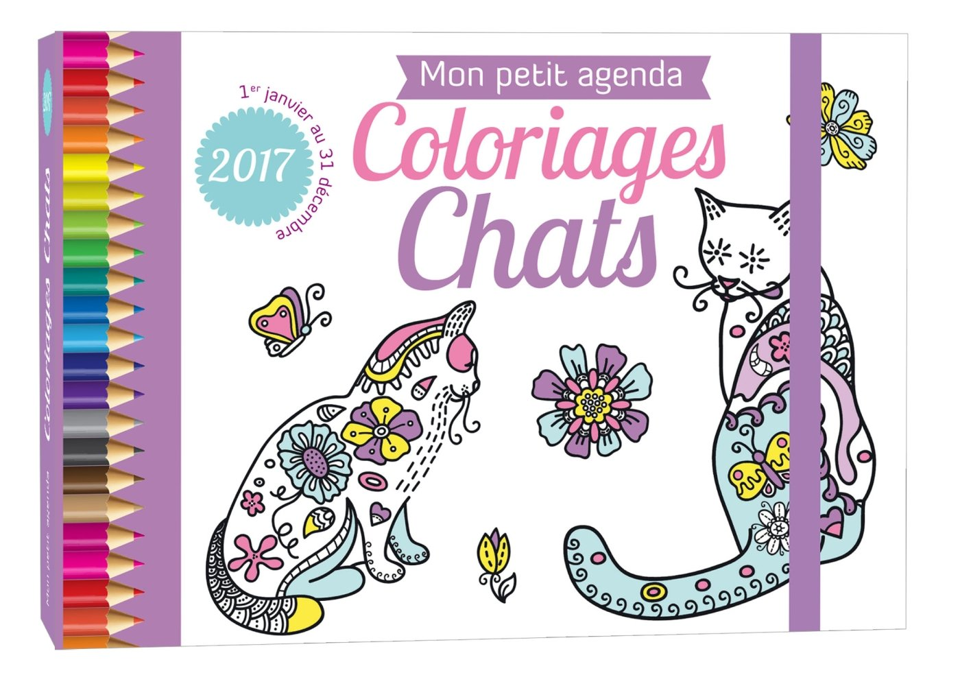 Mon Petit Agenda Coloriages Chats Editions 365 9782351558379