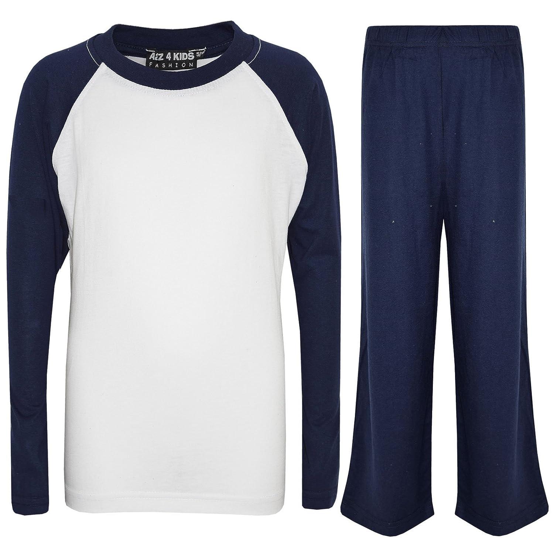 A2Z 4 Kids® Kinder Mädchen Jungen PJs Plain Farbe Stilvolle Farbe Kontrast Pyjamas Satz Alter 5 6 7 8 9 10 11 12 13 Jahre