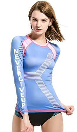 f1db061bdd DIVE   SAIL Rash Guard Top Women Long Sleeve UV UPF 50 Rashguard ...