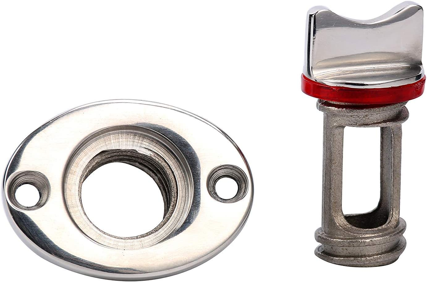 Amarine Made Oval Garboard Drain Plug Stainless Steel Boat Fits 1 Hole Thread for 3//4