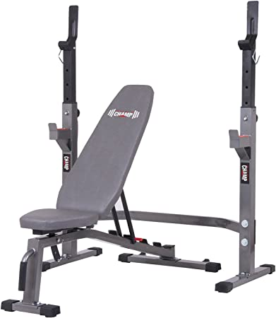 side facing body champ pro3900 two-piece set olympic weight bench