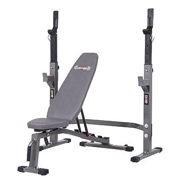 Banco de pesas bcb3835 Set de dos piezas y Squat Rack: Amazon.es: Deportes y aire libre