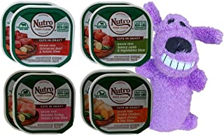 product image for Nutro Grain Free Cuts in Gravy Dog Food 4 Flavor 8 Can with Toy Bundle, (2) Each: Beef Potato, Lamb Vegetable, Turkey Potato, Chicken Sweet Pea (3.5 Ounces)