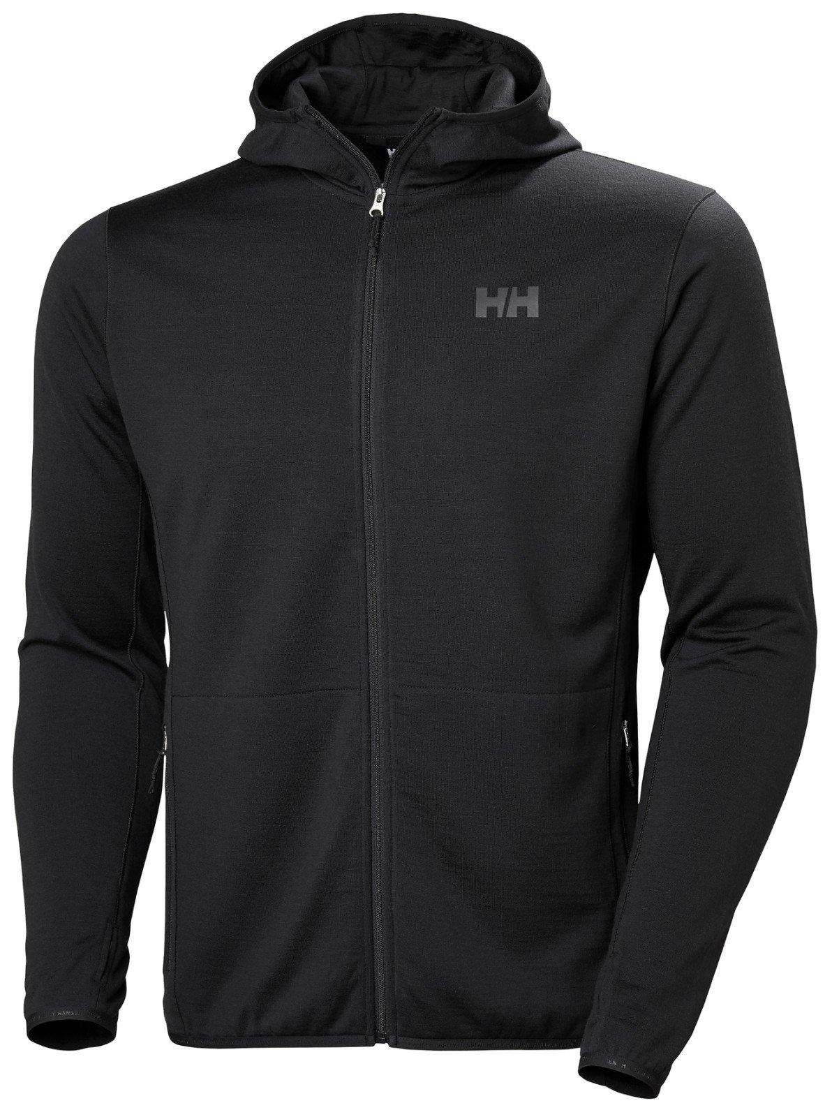 Helly Hansen Mens HH Merino Fleece Hooded Jacket - Ebony, M by Helly Hensen (Image #1)
