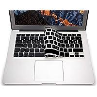 "PUBAMALL Cubre Teclado para MacBook Pro 13"" 15"" 17""/MacBook Air 13"",Thin Keyboard Cover Skin Soft TPU con español (Negro)"