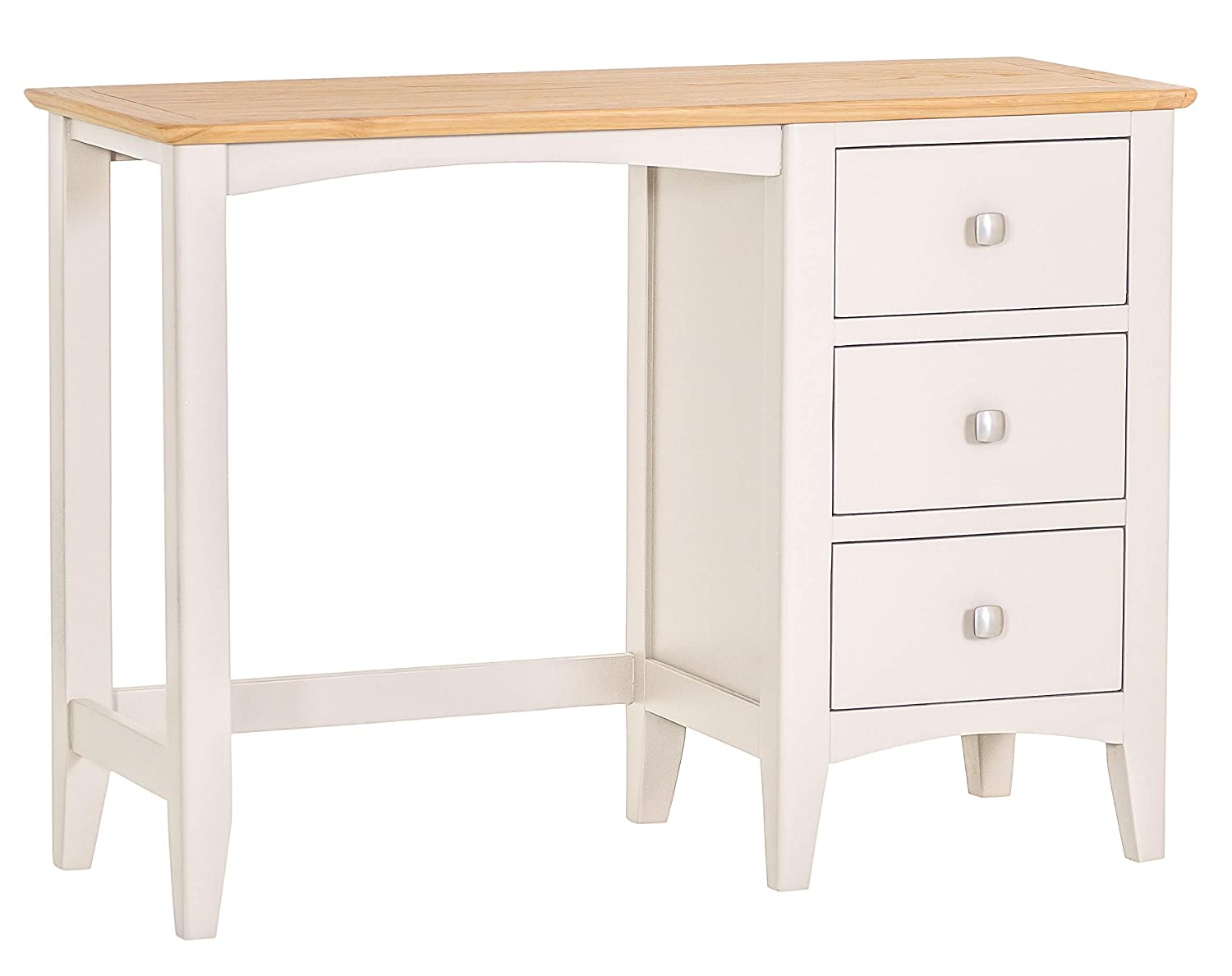 829ac7c7ea52 The Furniture Outlet Malvern Shaker Ivory Painted Oak Dressing Table:  Amazon.co.uk: Kitchen & Home