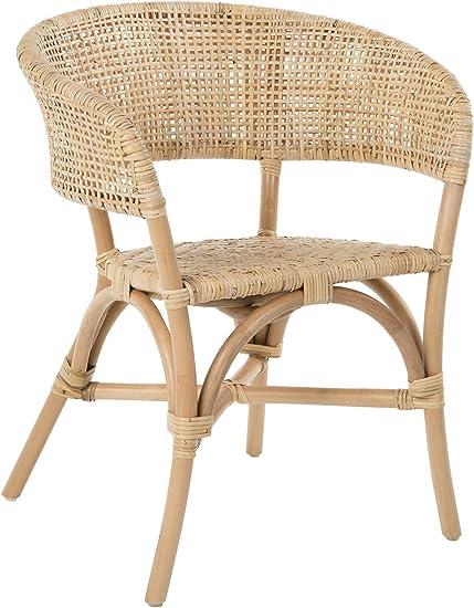 Amazon Com Kouboo Cane Webbing Club Dining Natural Rattan Club Dining Chair Light Brown Chairs
