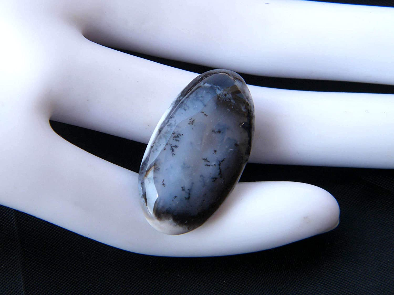 Fabulous Dendrite Opal Oval Shape Cabochon Loose Gemstone 27 Ct Pair Natural Gemstone,Top Grade Quality,For Making Earrings,34X12X4mm S-4510