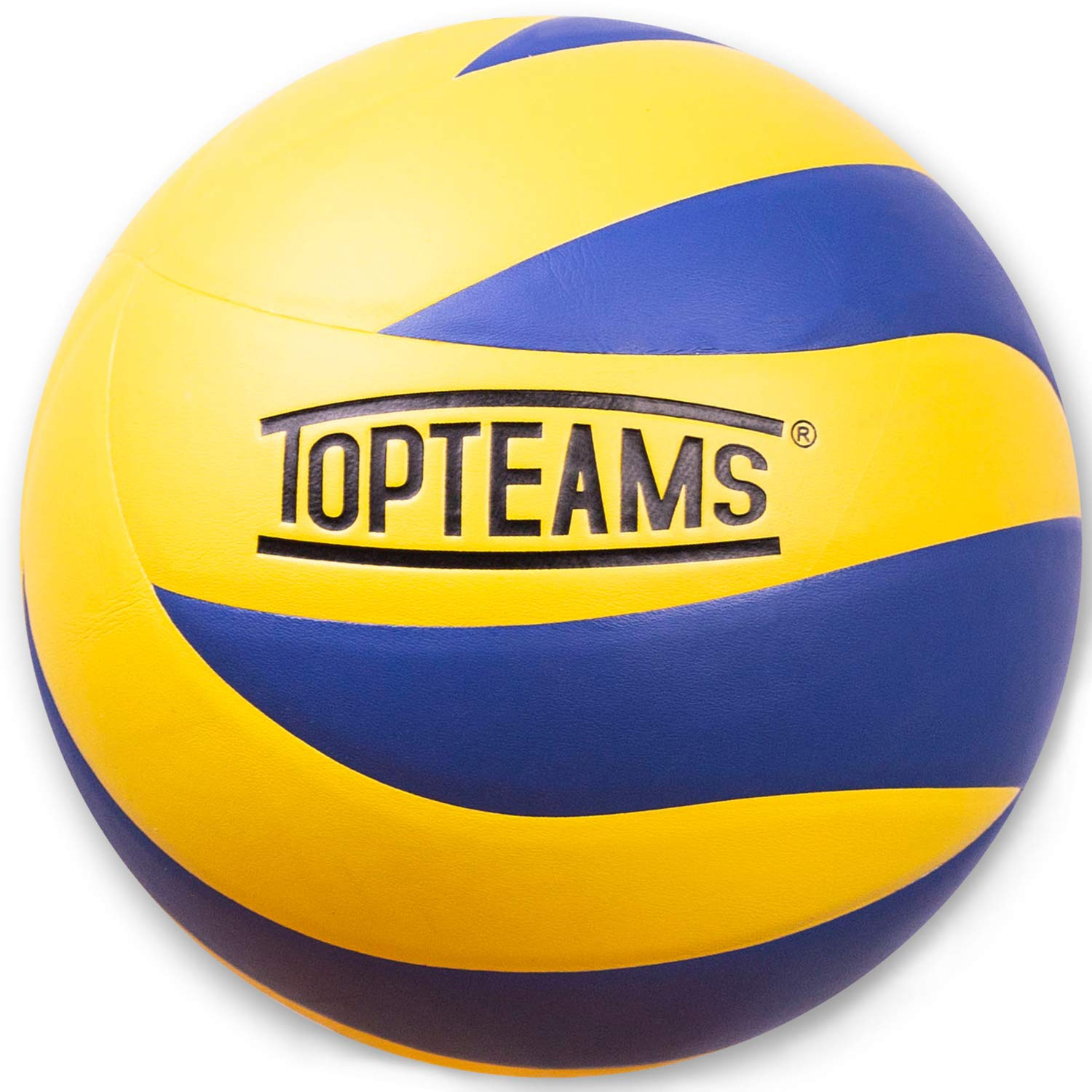TOPteams Ballon de Beach Volley, Ballon de Volley, Volley-Ball, Soft Touch pour Adultes et Enfants.