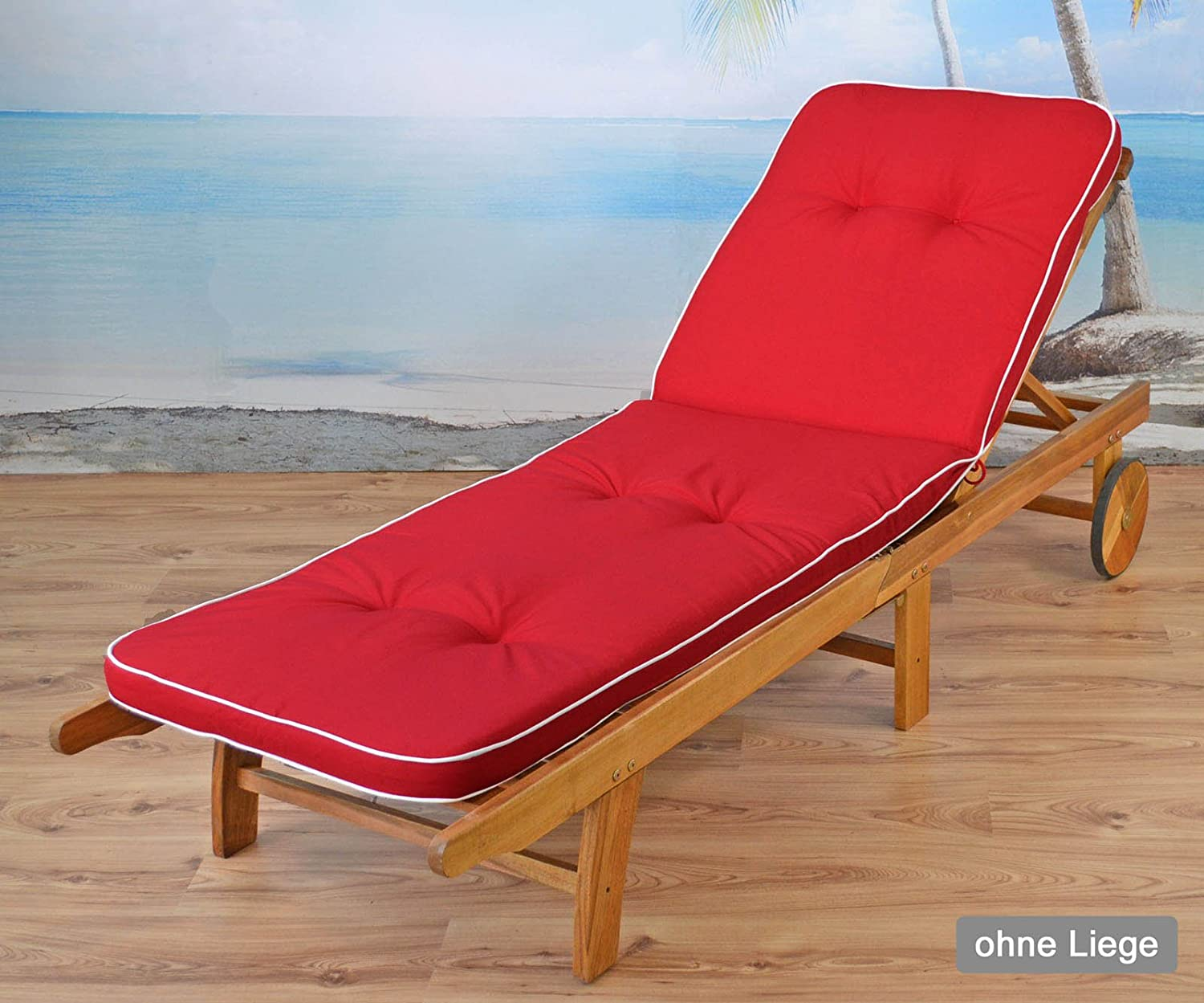 /White /33/Red No Armchair/ sun garden 2/Cushions for High-Backed Chair Armchair Tomiro 50077/
