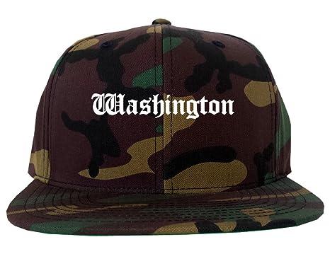 962582850f6 WA Washington State Old English Army Camo Camouflage Snapback Hat Camo