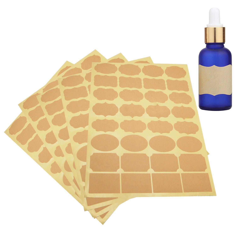 nero, 8 * 10 lattine adesivi retro utilizzati per la casa facili e veloci da usare cartella bottiglia 80 pezzi etichette da cucina Adesivi da cucina autoadesivi in diverse forme e dimensioni