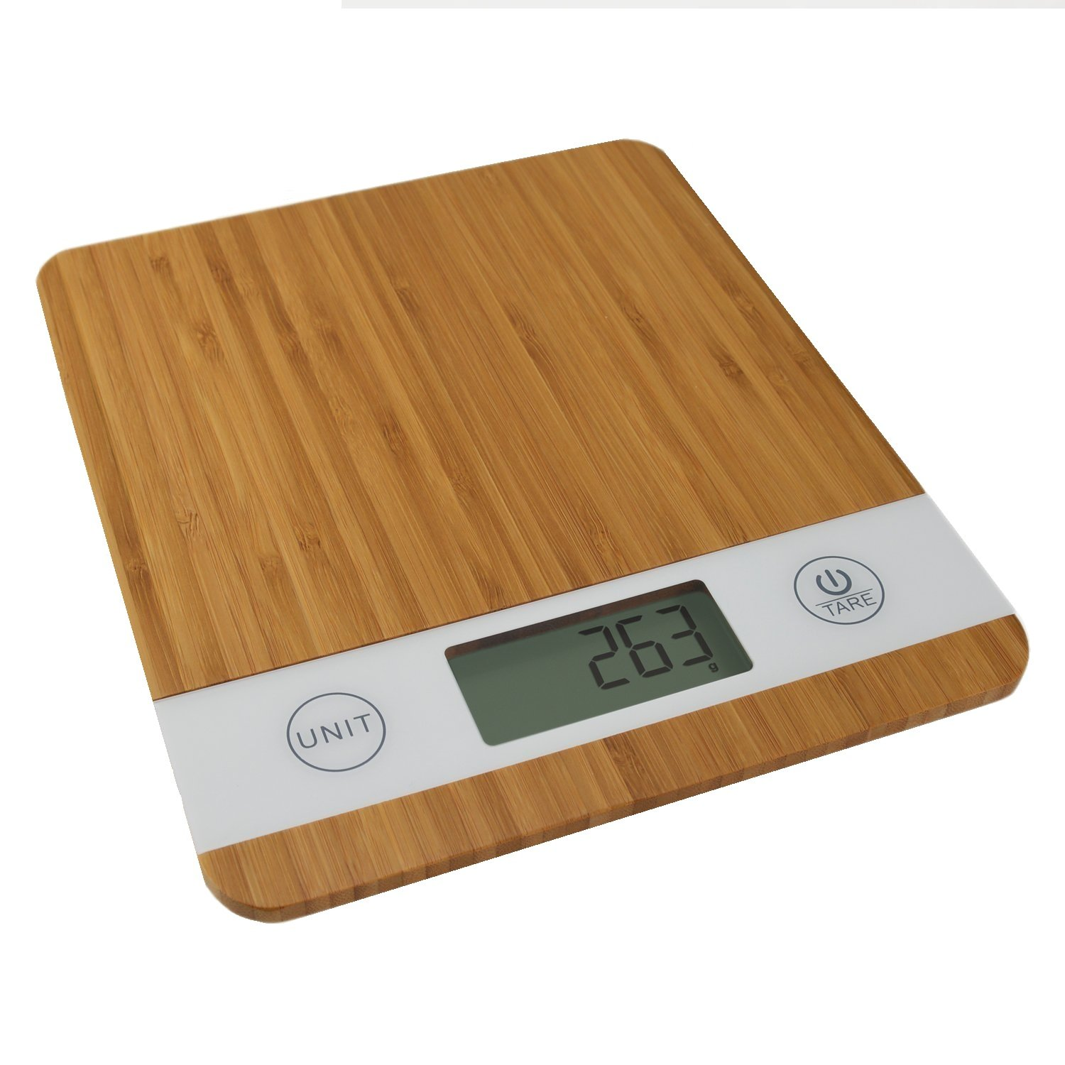 Smart Weigh Bamboo Digital Kitchen Scale with Tare Feature, Food ...