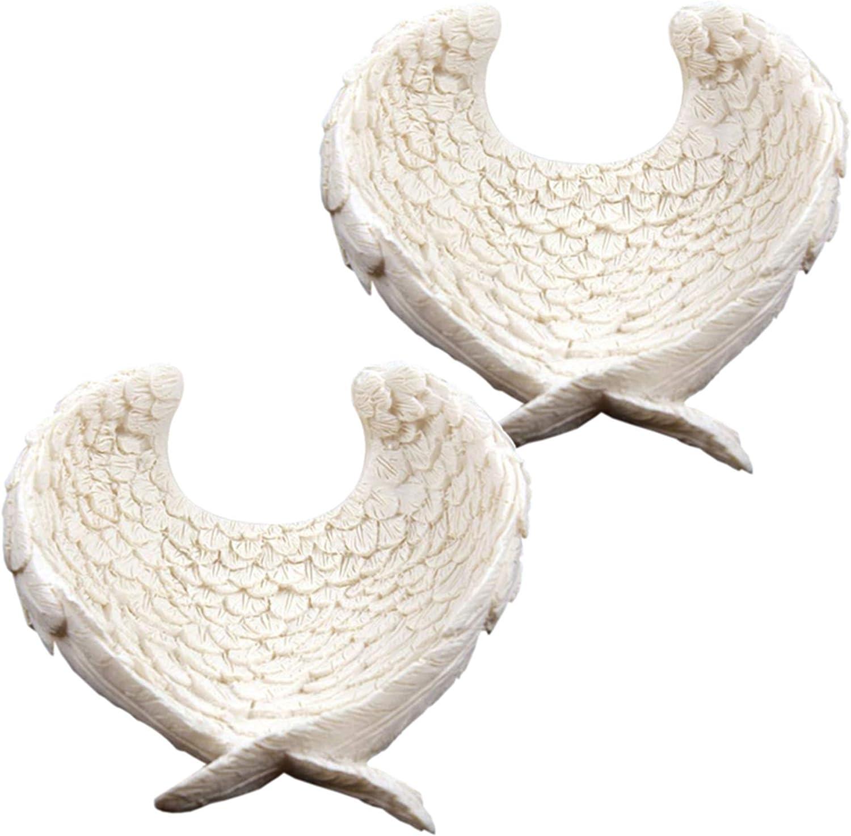 Piccolo porta oggetti a forma di ali d angelo in resina 0GZI