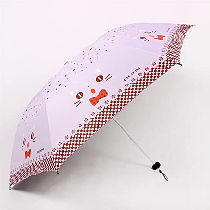 Reinhar Mini Folding Umbrella Rain Women Black Paraguas Plegable Parasols Adult Beach Sun Anti Uv Compact