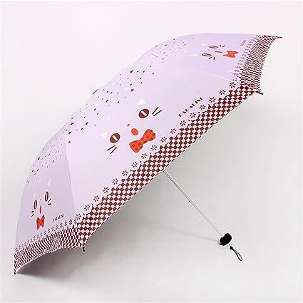 Reinhar Mini Folding Umbrella Rain Women Black Paraguas Plegable Parasols Adult Beach Sun Anti Uv Compact