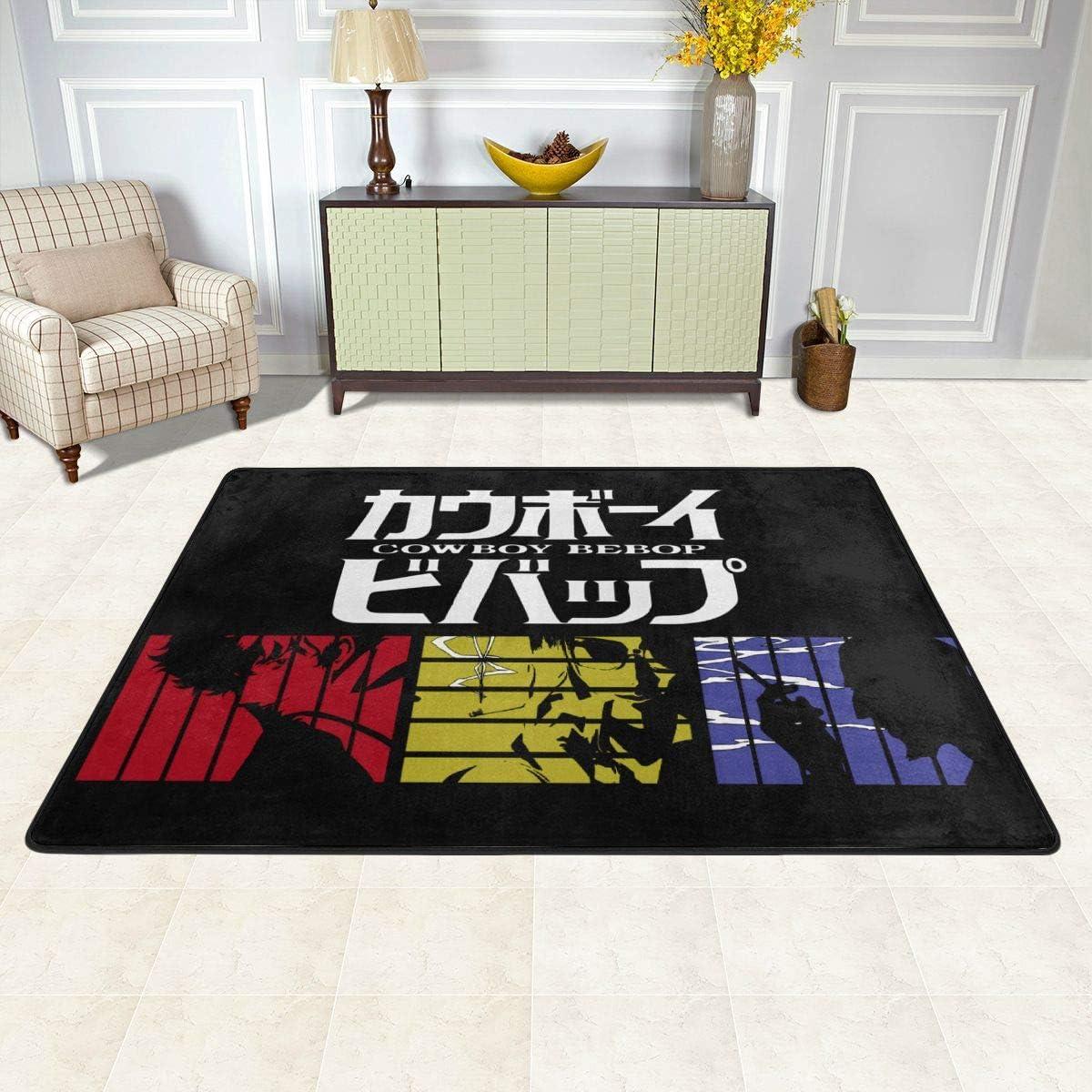 Cowboy Bebop Rug Anime Design Rectangular Non-Slip Absorbent Carpet Indoor Terrace Outdoor – Multi-Size Model Carpet Carpet 72 x48