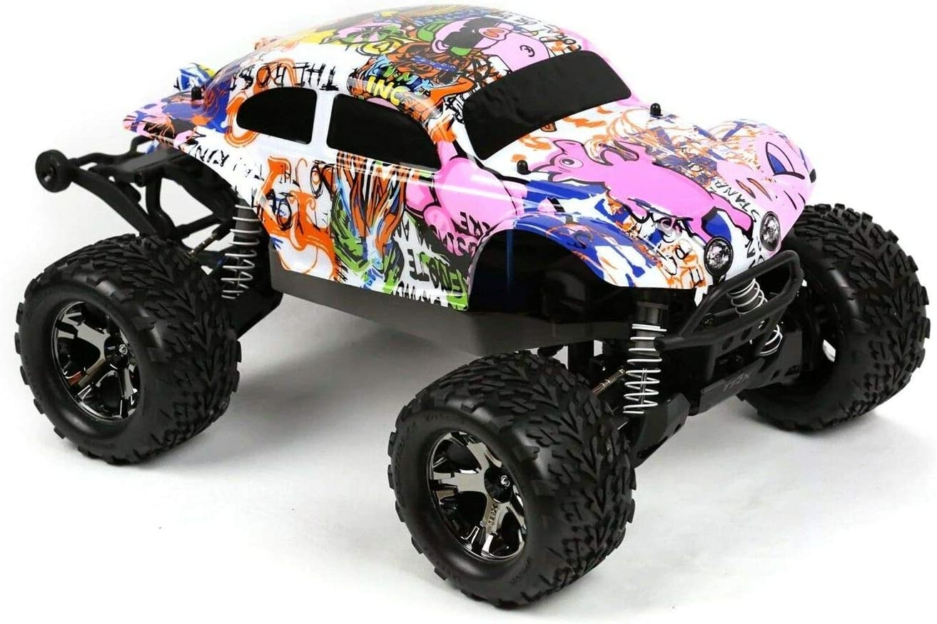 Amazon Com Compatible Custom Body Graffiti Pink Pig Style Replacement For 1 10 Scale Rc Car Or Truck Truck Not Included Stb Pig 01 Toys Games