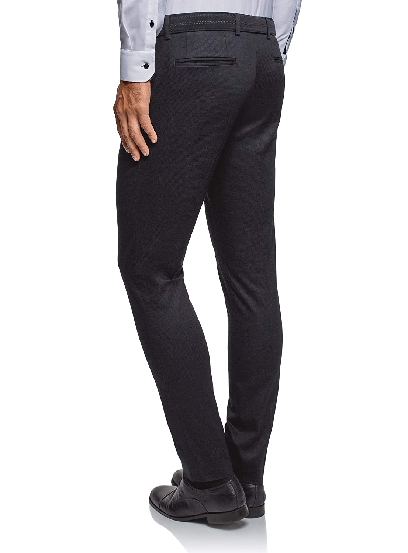 oodji Ultra Uomo Pantaloni Slim Fit in Tessuto Testurizzato