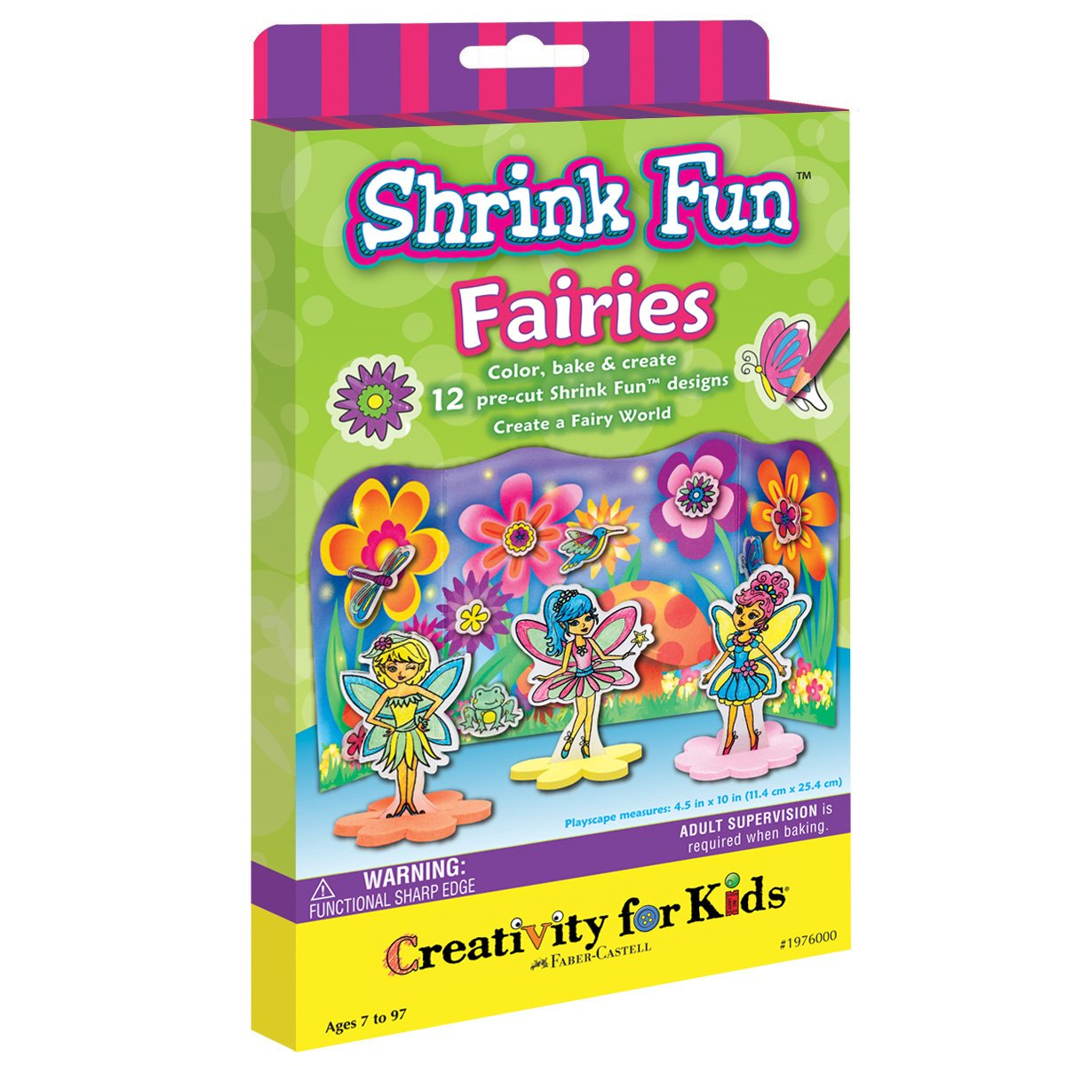 Creativity for Kids Shrink Fun Fairies - Shrink Plastic Activity Kit