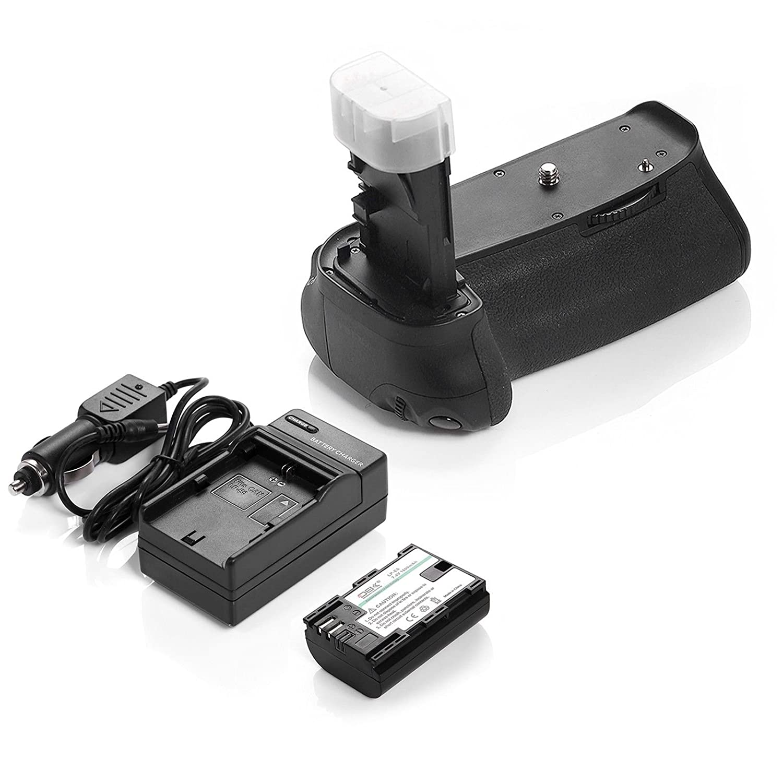 DS bg-e9電源バッテリーグリップ+ 1600 mAh LPe6バッテリー+充電器for Canon EOS 60d   B06XVL61V8