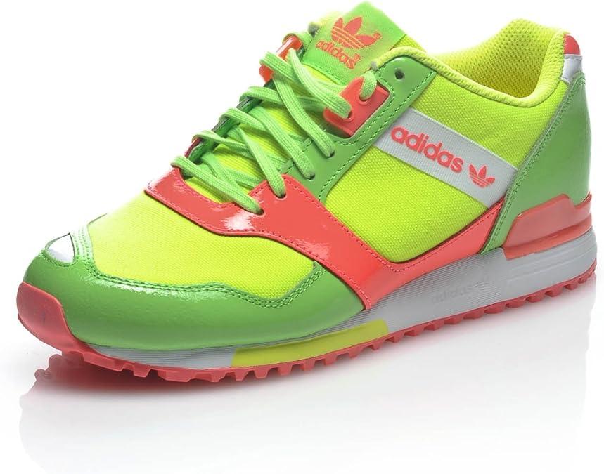 adidas Zapatillas ZX 700 Contemp W Verde/Amarillo/Rosa EU 38: Amazon.es: Zapatos y complementos