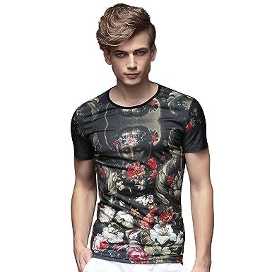 FANZHUAN Camisas Hombre Elegantes Camisas Hombre Retro Camisas Estampadas Hombre: Amazon.es: Ropa y accesorios