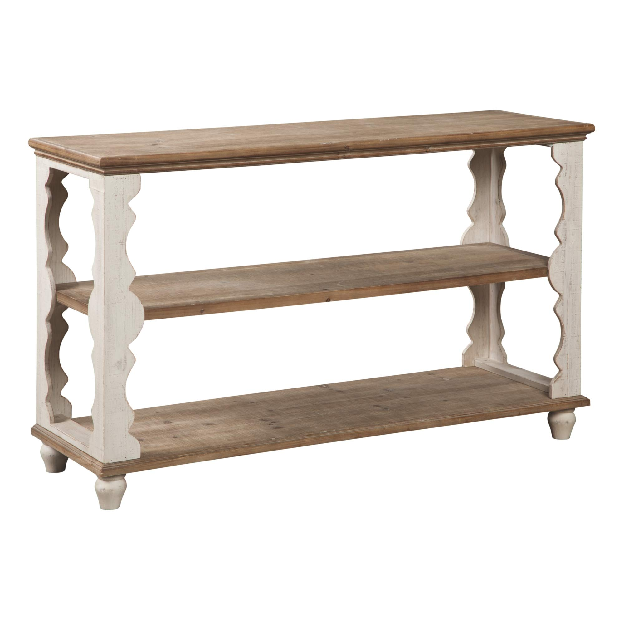 Ashley Furniture Signature Design - Alwyndale Console Sofa Table - Casual - Antique White/Brown by Signature Design by Ashley