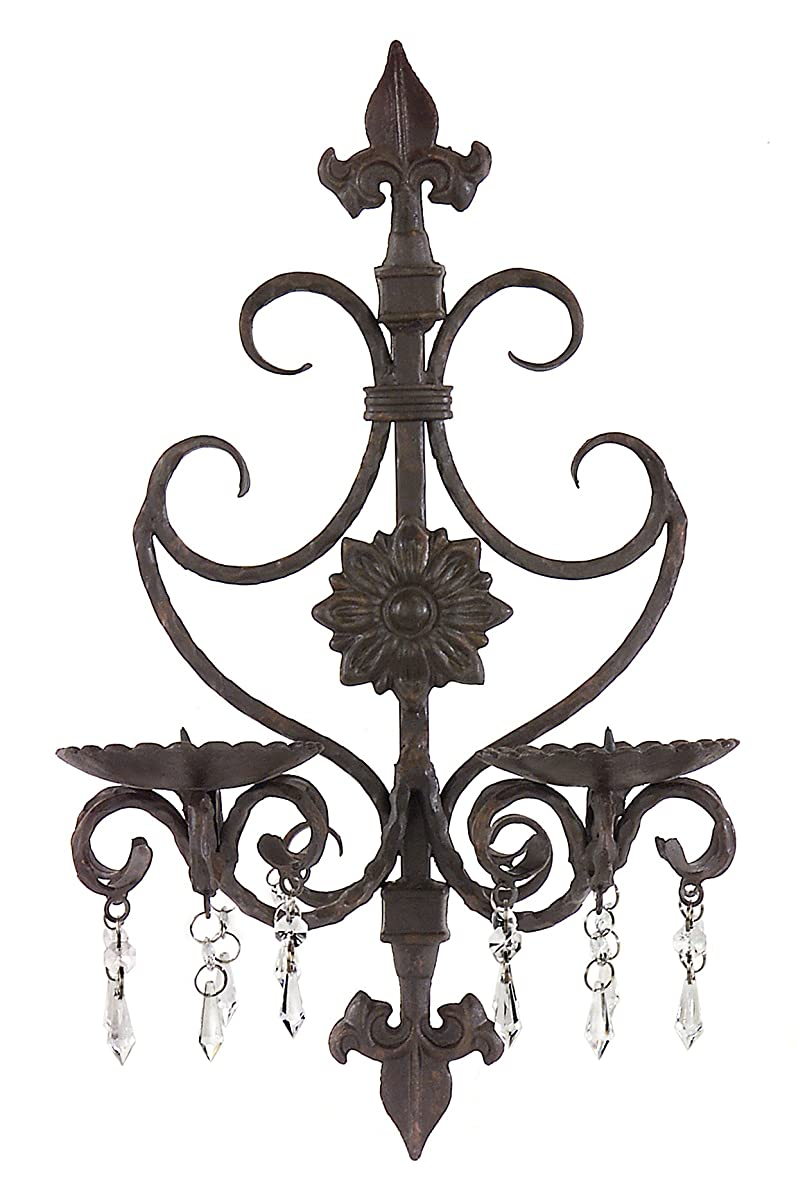 Imax Corporation Candle Holder Wall Sconce in Brown
