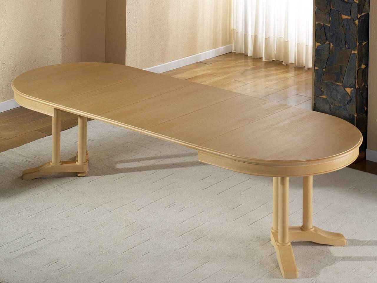 Soma Allegro - Mesa de Comedor Ovalada (160 x 110 cm, con Insertos ...